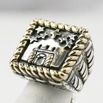 """""""Remember the Alamo"""" ring by Texas jewelry designer Dian Malouf."""