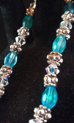 Beautiful Swarovski and glass bead bracelet I made.