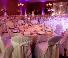 Elegant Wedding Reception in the Hazeltine Ballroom.  Photo by http://kellybrownweddings.com/