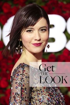 On the red carpet at Broadway's biggest night, actress Mary Elizabeth Winstead paired a classic face with her intricately beaded gown. Mary Elizabeth Winstead, Big Night, Beaded Gown, Get The Look, Red Carpet, Broadway, Awards, Gowns, Actresses