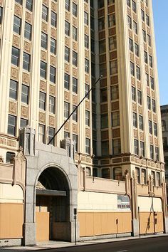 The grand Sterick Building, Memphis, TN. Abandoned and haunted.