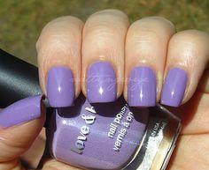 love and beauty lavender nail polish