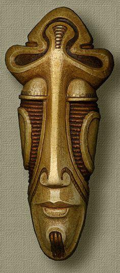 Amazing Paintings, Sculpture, Graphics Drawings by Boris Indrikov – Drawing Inspiration Arte Tribal, Tribal Art, Tiki Maske, Ceramic Mask, Art Premier, Africa Art, Amazing Paintings, Masks Art, African Masks