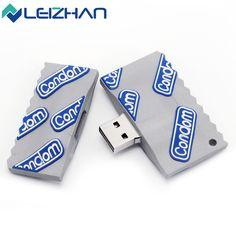 LEIZHAN Condom USB Flash Drive 16GB Multiple Novelty Durable Gift Pen Drive 8GB USB 2.0 32GB Pendrives 4GB Memory Stick