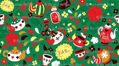 mad tea party @ spoonflower