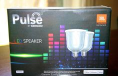 Pulse Dimmable LED Light with Wireless Bluetooth Speakers - great gift for music + tech lovers