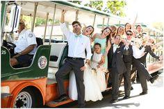 St. Augustine Wedding   Trolley time