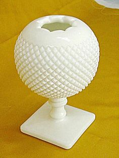 Westmoreland Hobnail Milkglass Ivy Bowl. Click on the image for more information.