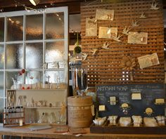 Check out that soap display! Cricket Acres Studio