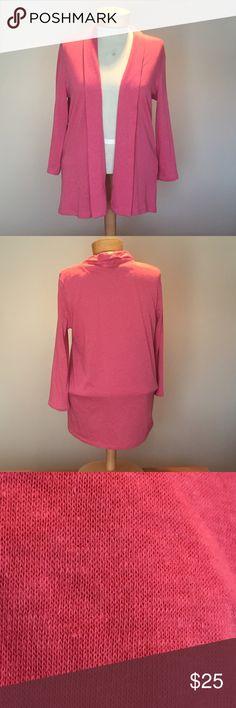 "Talbots pink Knit Cardigan. Size Petite large. Talbots pink Knit Cardigan. Size Petite large.  Poly/cotton/rayon. 26"" long. Talbots Sweaters Cardigans"