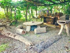 Easy Diy Garden Projects You'll Love Natural Outdoor Playground, Backyard Playground, Playground Ideas, Outdoor Learning Spaces, Outdoor Classroom, Forest Classroom, Diy Garden Projects, Garden Tips, Garden Landscape Design