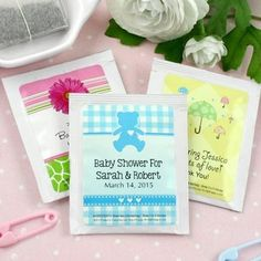 The Stir-15 Out-of-the-Box Baby Shower Favor Ideas (PHOTOS).. Teabags how neat