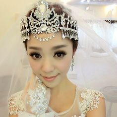Cheap tiara gems, Buy Quality tiara directly from China tiara necklace Suppliers: Elegant Crystal Hairband Bridal Headwear Ladies Wedding Party Forehead Ornament Crown Topknot Weight: appro.100gColor: A
