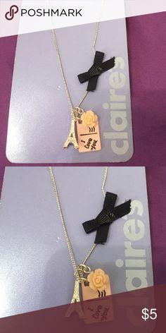 Paris necklace Paris necklace with silver chain Claire's Jewelry Necklaces