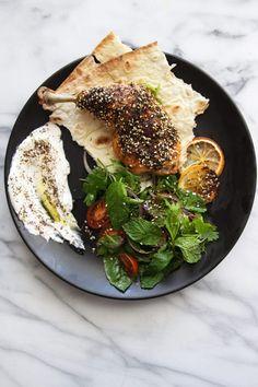 How To Use Za'atar - za'atar chicken Veg Recipes, Light Recipes, Chicken Recipes, Dinner Recipes, Cooking Recipes, Healthy Recipes, Healthy Habits, Healthy Foods, Lebanese Recipes