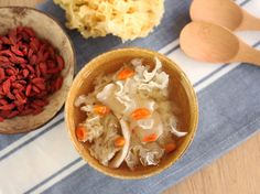 White fungus, wolfberries, and chinese yam dessert soup