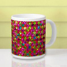 SOLD Mug Polka Dots Sparkley Jewels! http://www.zazzle.com/mug_polka_dots_sparkley_jewels-183122410962643244 #Zazzle #Mug #PolkaDots #Sparkley #Jewels #strass