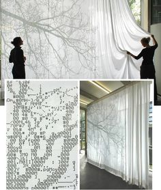 ASCII curtains by Dutch designer Nienke Sybrandy