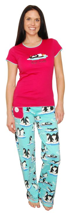 Lazy One Out Cold Penguin Pajama Set