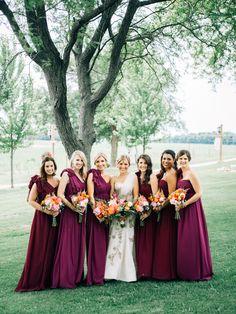 Jenny Yoo Aidan Dresses in purple plum bridesmaid dress hues
