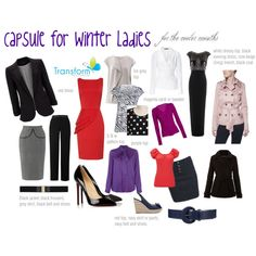 """Capsule for Winter Ladies"" by transform-image-consulting on Polyvore"