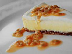 Stekt ostekake med pasjonsfrukt
