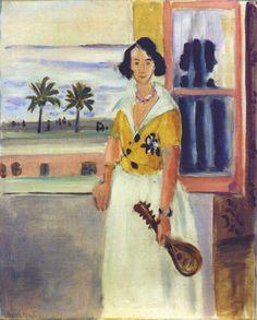 Woman with Mandolin 1921. Henri Matisse