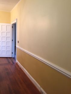 BEFORE Hall Down Stairs - Hutton Home piece will be located here