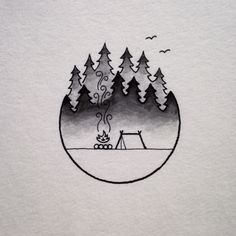Stay Beautiful | davidrollyn:   A camp scene inspired by the foggy...