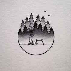 David Rollyn — A camp scene inspired by the foggy Oregon...