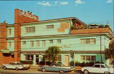 View of Holiday Inn Old Cars Myrtle Beach SC Early 1960'S
