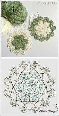 Transcendent Crochet a Solid Granny Square Ideas. Inconceivable Crochet a Solid Granny Square Ideas. Crochet Diy, Mandala Au Crochet, Poncho Au Crochet, Crochet Motif Patterns, Crochet Circles, Granny Square Crochet Pattern, Crochet Blocks, Crochet Diagram, Crochet Chart
