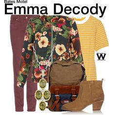 Inspired by Olivia Cooke as Emma Decody on Bates Motel.
