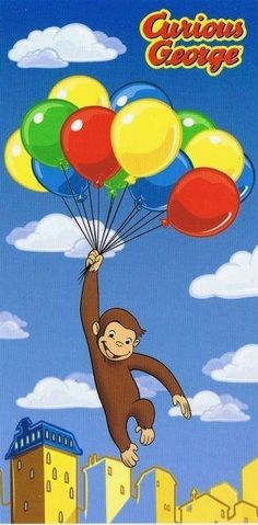 curious george plush holding ballon party decor - Yahoo Image Search Results