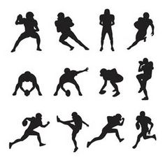 silhouette football - Bing Images