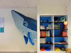 The Charming Classroom: Ocean Classroom Theme Because someday I might need to make a cardboard whale! Classroom Decor Themes, Classroom Design, Art Classroom, Classroom Ideas, Ocean Themed Classroom, Future Classroom, School Classroom, Ocean Room, Underwater Theme