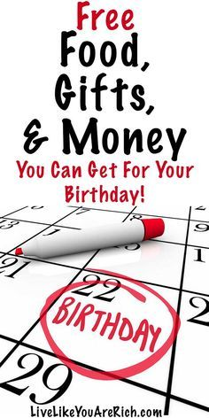 Freebies & Coupons You Can Get for Your Birthday - Live Like You Are Rich