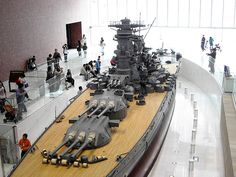 World's biggest scale model: 1/10 Battleship Yamato.