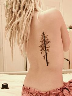 Pine tree tattoo- this will remind me of Oregon, my home