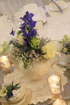 Beautiful Winter Wedding Day at Singleton Lodge for Amanda & Peter Afternoon Tea Wedding, Wedding Flowers, Wedding Day, Flower Designs, Floral Arrangements, Amanda, Table Decorations, Winter, Beautiful