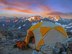 Sahale Glacier Camp at North Cascades National Park