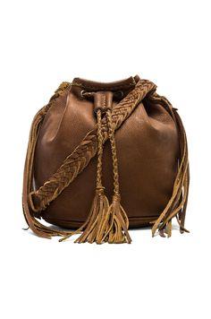 STELA 9 Quixote Small Bucket Bag in Camel Camello