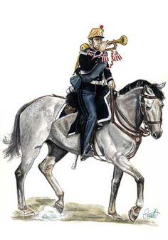1860-1863 Tromba del Rgt. Cavalleggeri di Monferrato Tenuta di marcia