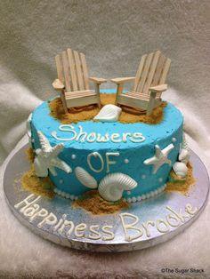 Beach Bridal Shower Cake ©TheSugarShack