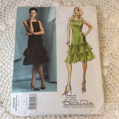 Vogue a Oscar De La Renta Party Dress Pattern by ProctorCreations