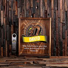 Personalized Bottle Cap Shadow Box with Free Stainless Steel Bottle Opener >>> Be sure to check out this awesome product.