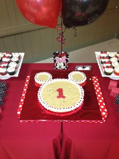 "Photo 33 of 55: Mickey and Minnie Mouse / Birthday ""Baby J's 1st Birthday"" 