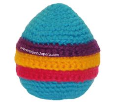 Tutorial: huevos de Pascua tejidos en crochet (amigurumi) para rellenar con chcocolatas, dulces o sorpresas!