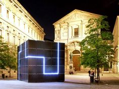 e-QBO: Giant Solar Energy-Generating Cube Lands in the Streets of Italy   Inhabitat - Sustainable Design Innovation, Eco Architecture, Green...