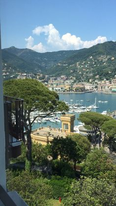 View from Excelsior palace hotel , Rapello , Italy ⛵️⛵️⛵️⚓️⚓️